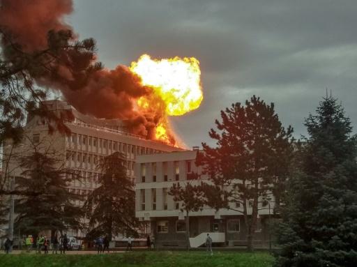 Villeurbanne: explosion de bouteilles de gaz sur le toit de l'université, trois blessés légers