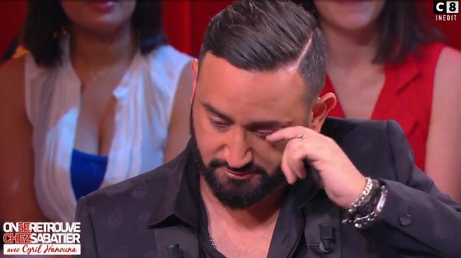 Cyril Hanouna ne peut retenir ses larmes face au message d'un ami (vidéo)