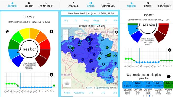 Une nouvelle application pour mesurer la qualité de l'air en temps réel : les stations de mesures sont-elles trop éloignées du trafic?