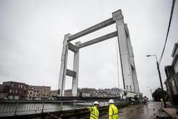 Affaissement d'un pont à Grimbergen - Les travaux de réparation pourraient durer jusqu'à quatre mois