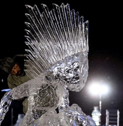 Un Philippin remporte le concours de sculptures sur glace de Valloire