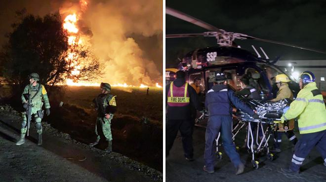 Incendie d'un oléoduc ou des habitants venaient voler du carburant au Mexique: au moins 21 morts et 71 blessés