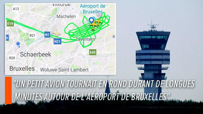 Nabil observe sur les radars un avion survoler l'aéroport de Bruxelles à plusieurs reprises: