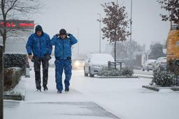 Encore de faibles chutes de neige mardi après-midi sur l'est et le centre du pays