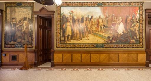 USA: une université va recouvrir des fresques dépeignant Christophe Colomb