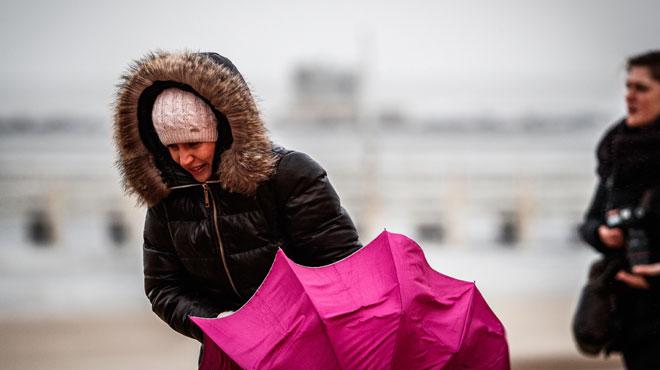 Prévisions météo: de la pluie et des rafales de vent attendues