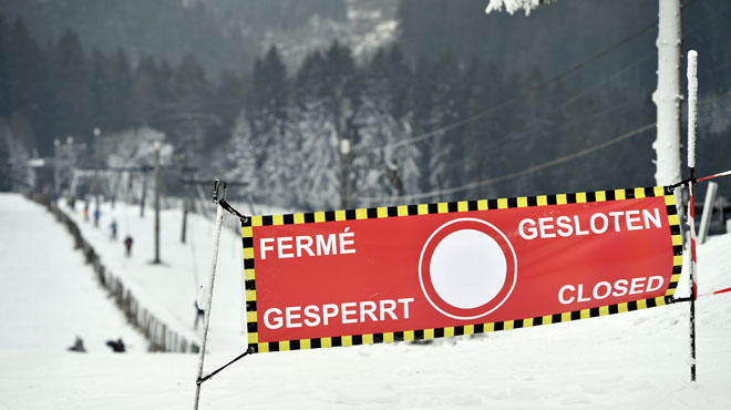 Il faudra patienter pour skier à Ovifat: les pistes sont inaccessibles aujourd'hui