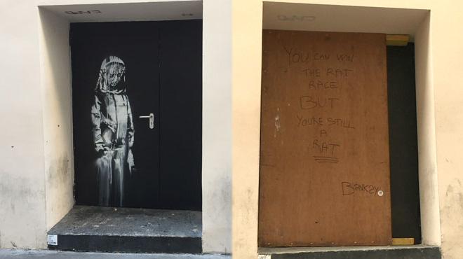 L'oeuvre attribuée à Banksy, en hommage aux victimes du 13 novembre, a été volée au Bataclan: