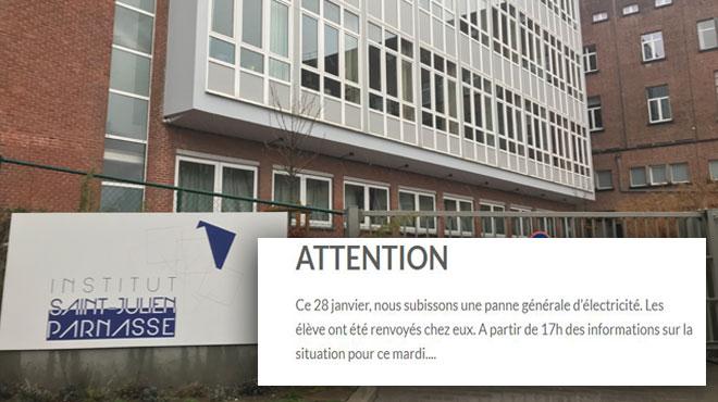 Les élèves de l'Institut Saint-Julien Parnasse à Auderghem renvoyés chez eux ce lundi: la panne survenue dans l'école est résolue