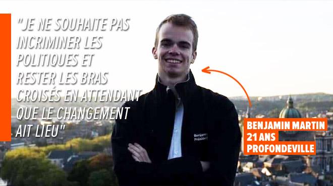 L'IDÉE: Benjamin, un étudiant de Namur, propose un