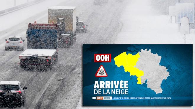 PIC de neige cette nuit, pagaille sur les routes à redouter: à partir de quand tombera-t-elle chez vous?