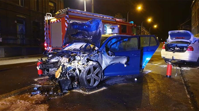 Violent accident frontal cette nuit à Lodelinsart: les deux conducteurs avaient rendez-vous