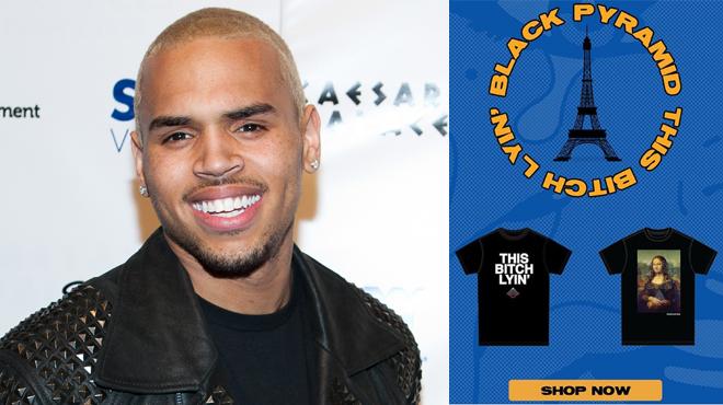 Après avoir insulté la femme qui l'accuse de viol, Chris Brown décide d'en faire des t-shirts