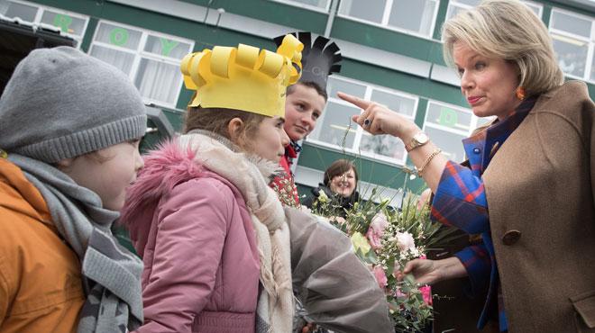 Harcèlement à l'école: la reine Mathilde en visite à l'athénée d'Esneux (photos)