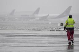 Les activités de l'aéroport de Charleroi fortement perturbées par la neige