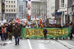 Environ 450 manifestants à Gand pour une politique d'asile plus humaine