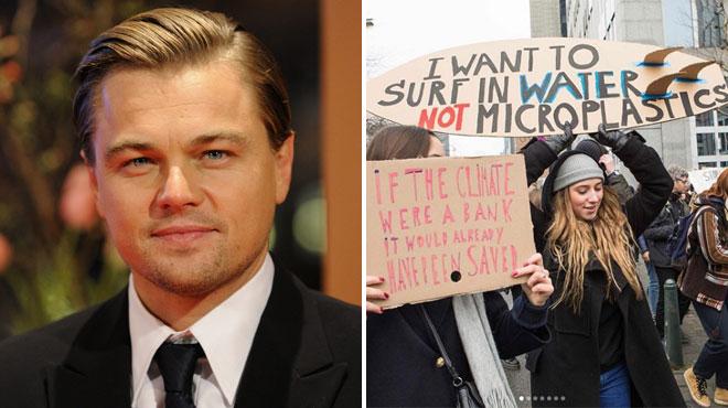 Leonardo DiCaprio publie des photos des jeunes Belges qui marchent pour le climat: