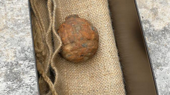 Une grenade de la Grande Guerre découverte dans des patates françaises