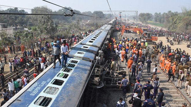 Le déraillement d'un train en Inde fait au moins 7 morts et de nombreux blessés