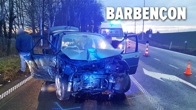 Un véhicule dévie de sa trajectoire sur la N40 à Beaumont: cinq blessés dont certains graves
