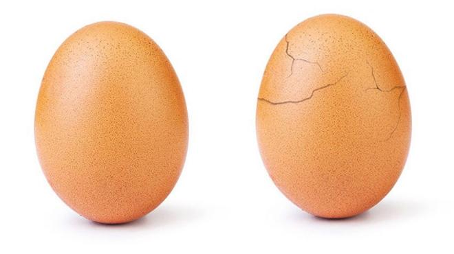 L'œuf le plus liké d'Instagram a craqué