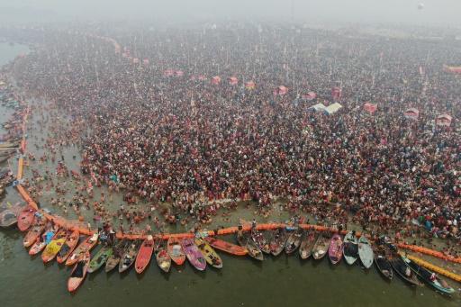 Inde: 55 millions de pèlerins en deux jours au Kumbh Mela