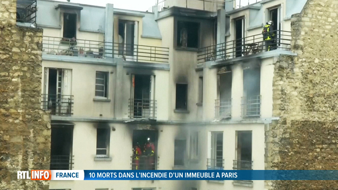 Au moins 10 morts dans l'incendie d'un immeuble à Paris: la garde à vue de la femme interpellée a été levée