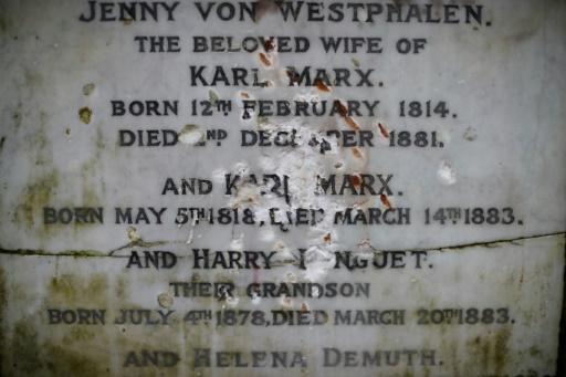 La tombe de Karl Marx vandalisée à Londres
