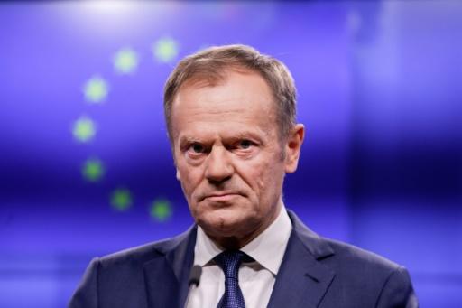 Brexit: Tusk crée une polémique à la veille de la visite de May à Bruxelles