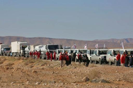 Syrie: une aide humanitaire acheminée vers un camp de déplacés