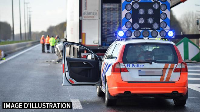 Quatre camions dans une collision sur la E19: trois accidents en trois jours à l'approche des travaux à Obourg