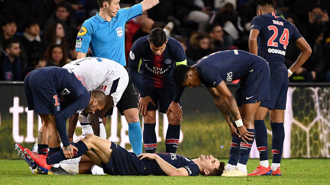 Après Neymar et Cavani, Meunier forfait pour le PSG avant Manchester United