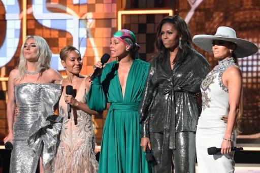 Michelle Obama, invitée surprise sur la scène des Grammy Awards