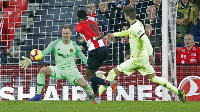 L'arrêt fantastique du gardien du Barça contre Bilbao (vidéo)