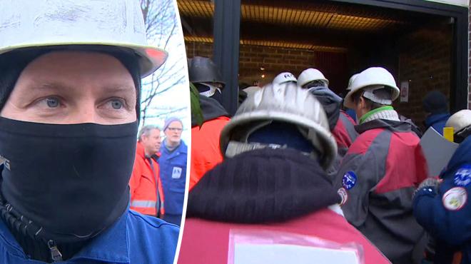 En colère, les travailleurs de Magolux se rendent chez Magotteaux à Vaux-sous-Chèvremont: