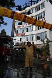 Au moins 17 morts dans l'incendie d'un hôtel à New Delhi