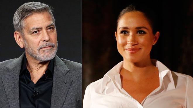 George Clooney, violemment CRITIQUÉ par la pressé, après avoir comparé Meghan Markle à la princesse DIANA