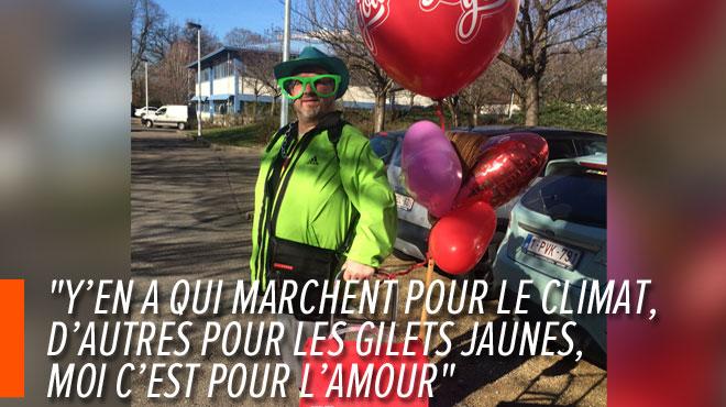 Stéphane, victime de la fusillade de la place Saint Lambert, parcourt 30 km À PIED pour demander Véronique en mariage