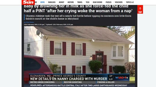 Une nounou américaine a gavé un bébé jusqu'à la mort: