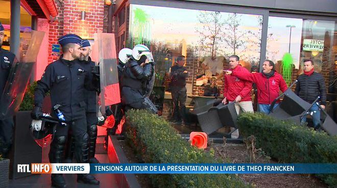 Face à face musclé entre les forces de l'ordre et des manifestants opposés à la venue de Theo Francken à Verviers 1