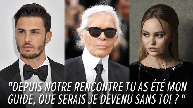 Les DÉCHIRANTS hommages de Baptiste Giabiconi et Lily-Rose Depp à Karl Lagerfeld: