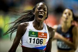 Cynthia Bolingo améliore d'une seconde son record de Belgique en salle sur 300m