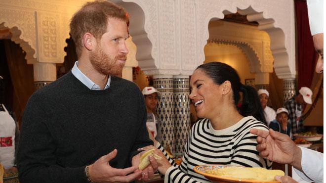 Le prince Harry et Meghan se délectent de plats traditionnels marocains en visite à Rabat