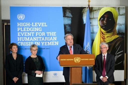 L'ONU réclame plus de 4 milliards de dollars pour l'aide humanitaire au Yémen en 2019
