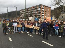 Près d'un millier de jeunes manifestent en faveur du climat à Dinant