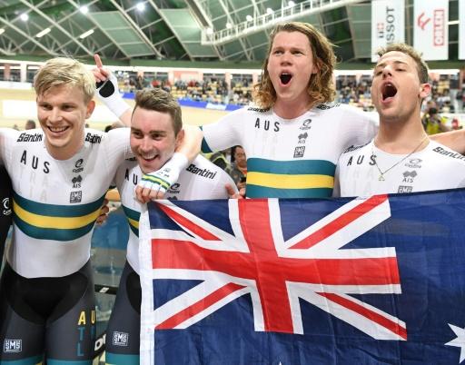 Cyclisme sur piste: titre mondial et record pour les poursuiteurs australiens
