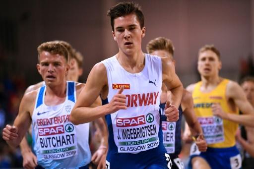Euro d'athlétisme en salle: le jeune prodige Jakob Ingebrigtsen enchaîne