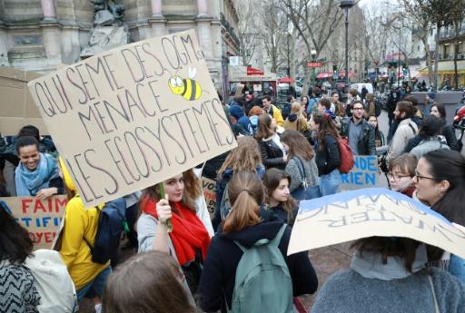 Nouvelle mobilisation des jeunes pour le climat à Paris