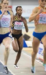 Euro d'athlétisme en salle - Nouveau record de Belgique pour Cynthia Bolingo (52.37) qualifiée pour la finale sur 400m