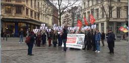 Une vingtaine de personnes rassemblées à Saint-Gilles en solidarité avec Leyla Güven